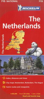 Michelin Map 715 Netherlands By Michelin Travel & Lifestyle (COR)